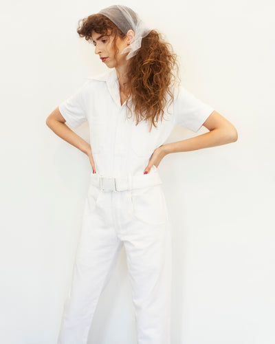 White Denim Boiler Suit