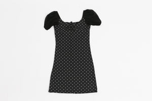 Polka Dot mini dress with puff sleeves