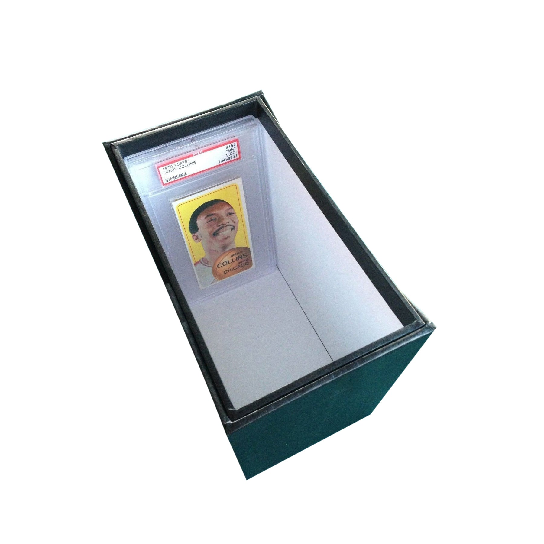 LARGE Graded Card Storage Box open, for PSA and BGS