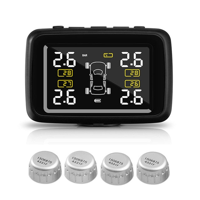 4 Tyre Wireless Pressure Monitoring System