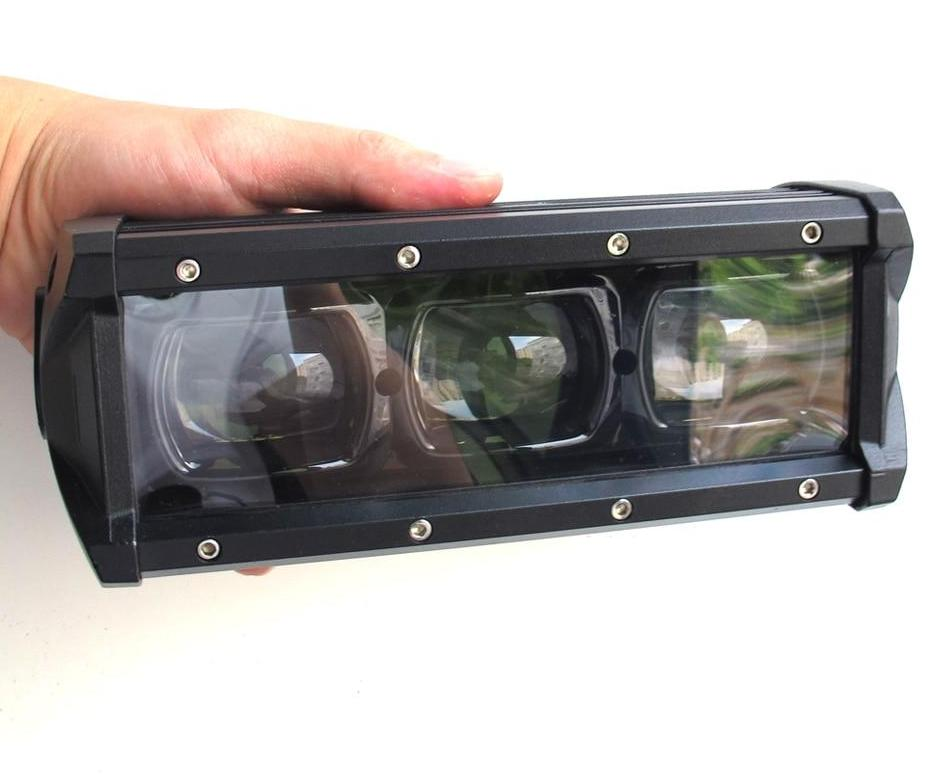 "6D Lens Single Row Led Light Bar (8""-53"")"