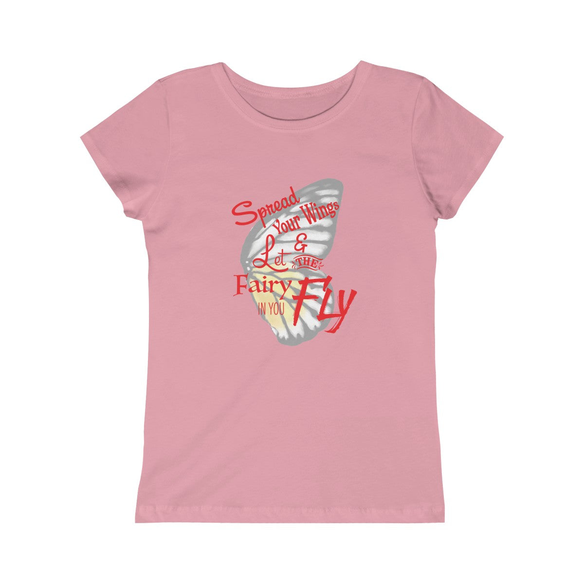 FW.  Spread Your Wings Girls Princess Tee