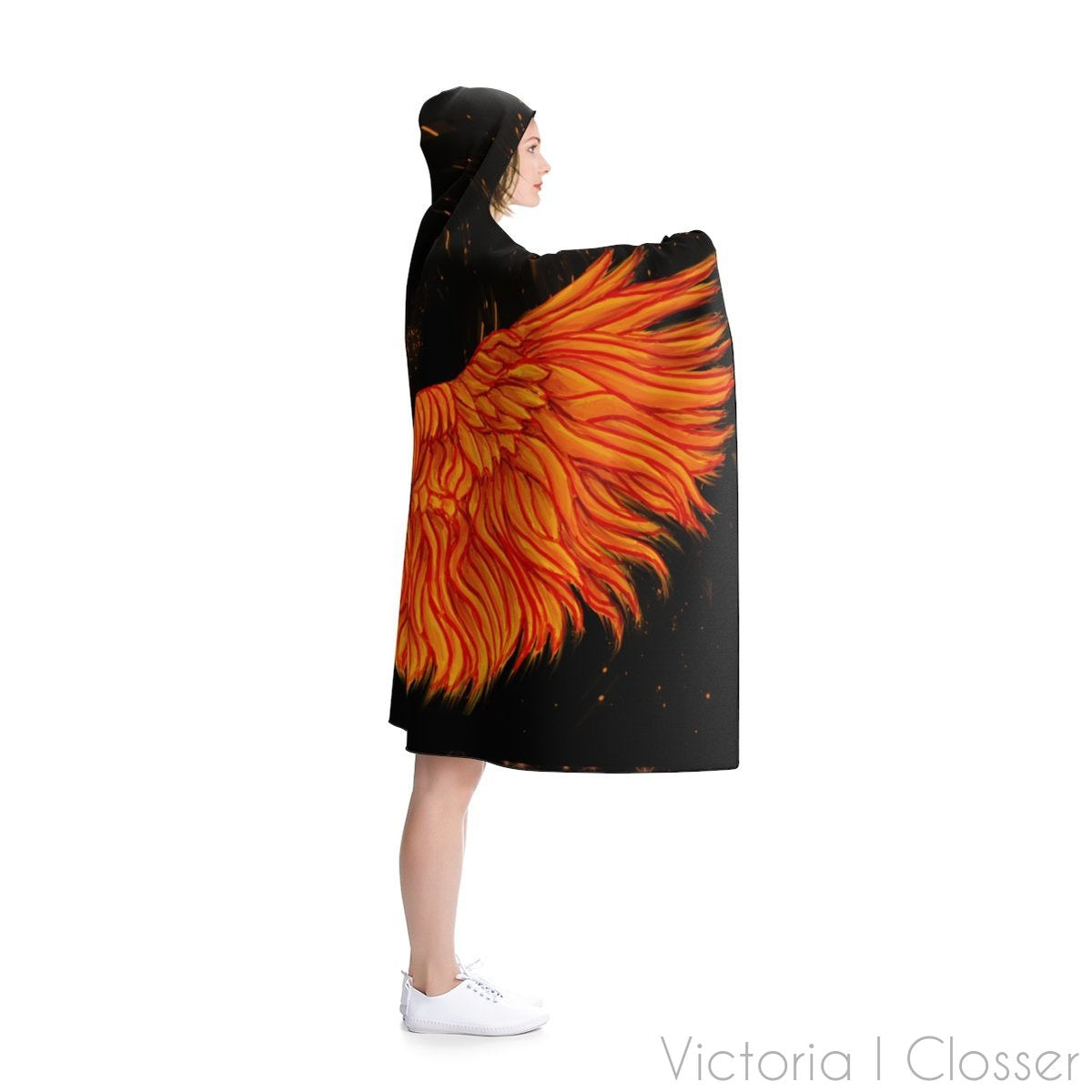 Flame Wings Hooded Blanket