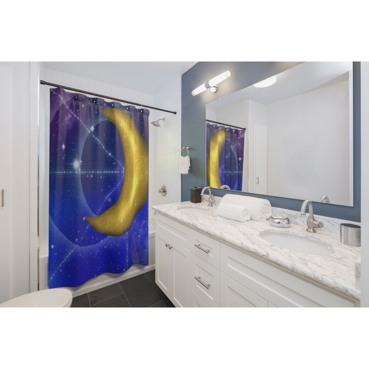 Moonpaths Shower Curtains
