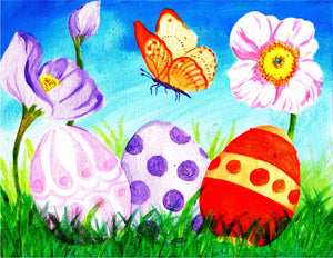 Easter Eggs and Butterfly