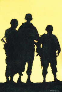 Soldiers Three Standing Strong