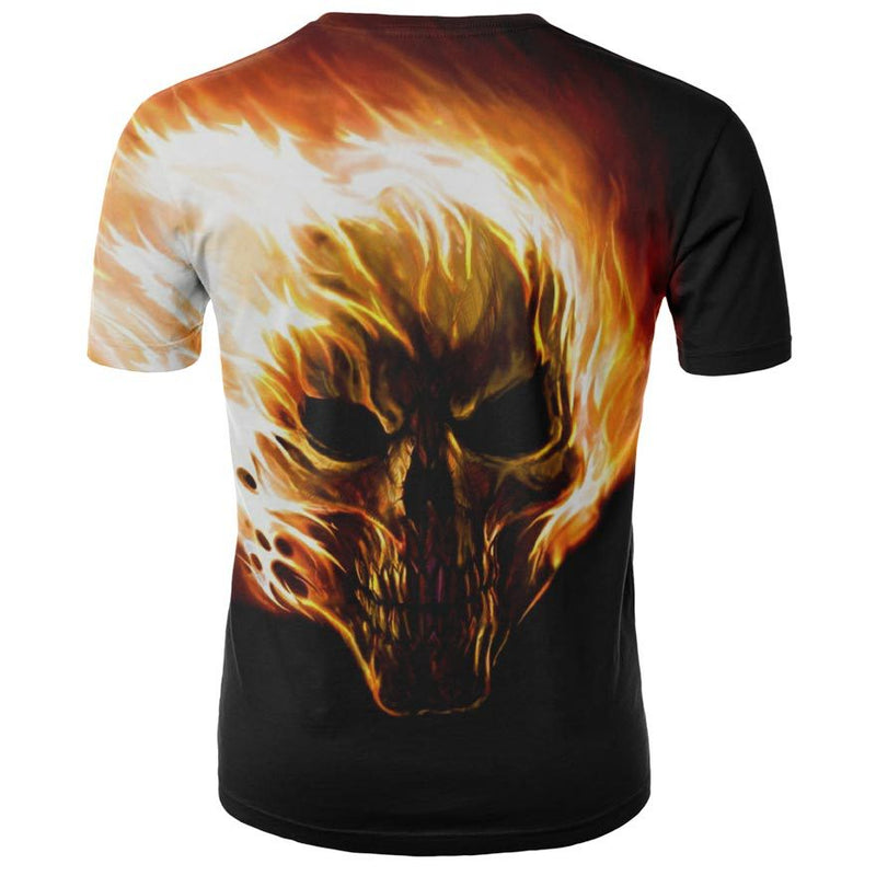 Men's Skull 3D Short Sleeve T Shirts - CTHOPER
