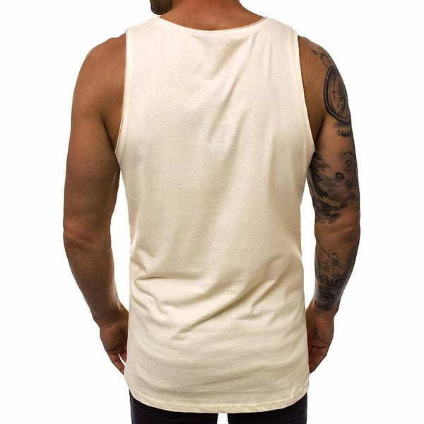 Men's Skull Print Comfortable Tank Top - CTHOPER