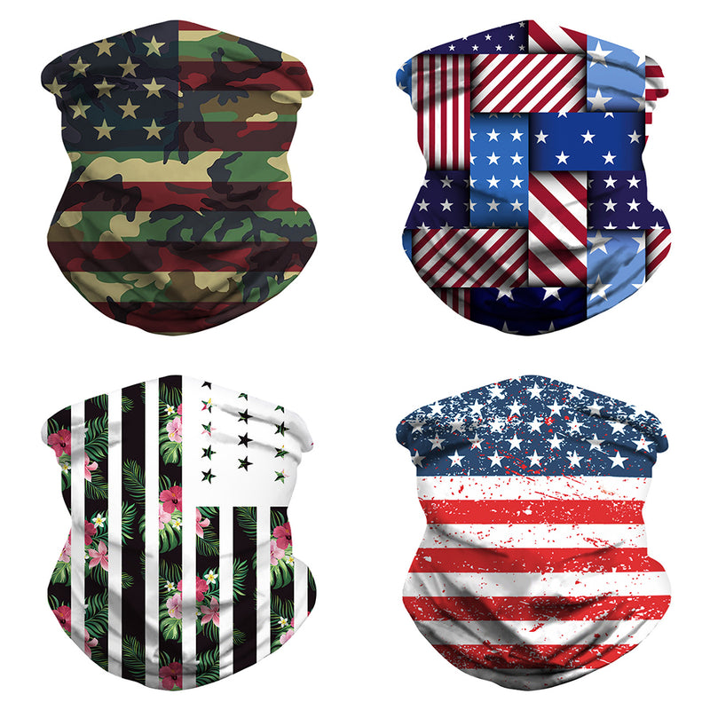 CTHOPER American Flag Gaiter/Cooling Neck Gaiter/Tube Headwear Bandana Running Cycling Motorcycle Face Mask - CTHOPER