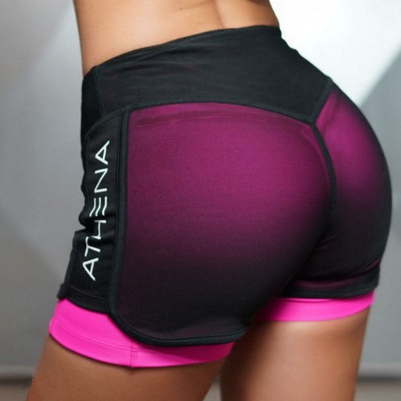 Women's Mesh Fitness Compression Yoga Shorts - CTHOPER