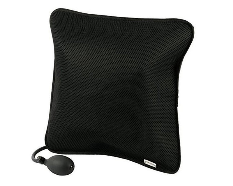 Lumbar Support Inflatable Cushion Backrest Portable Pillow with Pump for Car, Office Chair, Home, Travel, Camping - CTHOPER