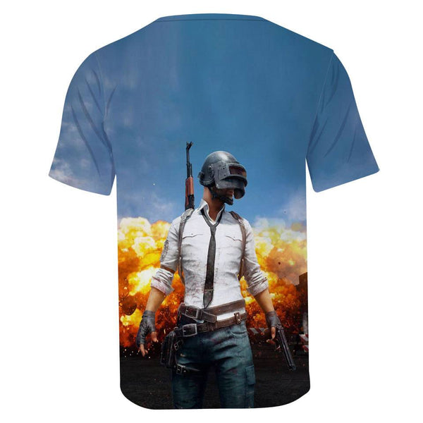 Men's Game PUBG 3D Short Sleeve T Shirts - CTHOPER