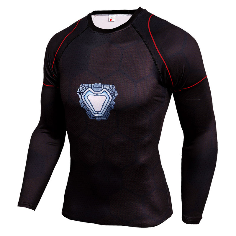 Men's 3D Printed Long Sleeve Plus Size T Shirts - CTHOPER