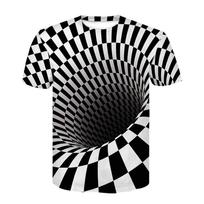 Men's 3D Vortex Short Sleeve T Shirts - CTHOPER