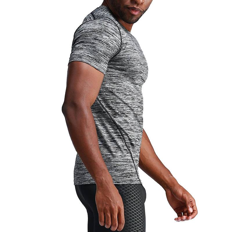 Men's Running Short Sleeve Compression T-Shirts - CTHOPER