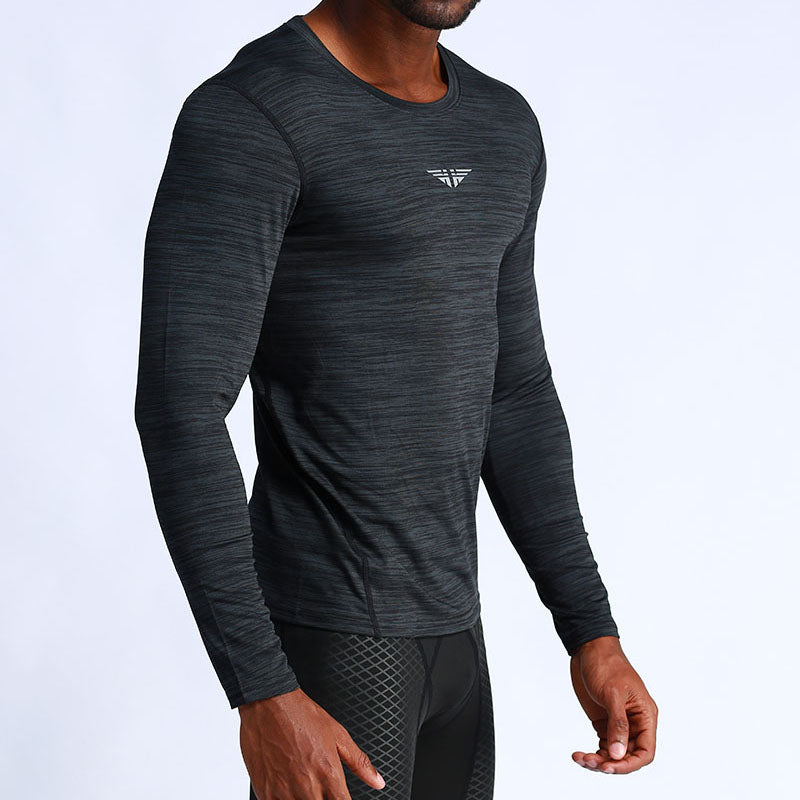Men's Long Sleeve Fitting Exercise T Shirts - CTHOPER
