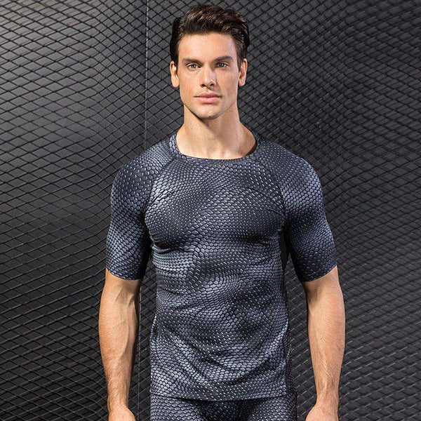 Men's Workout Short Sleeve Compression Shirts - CTHOPER