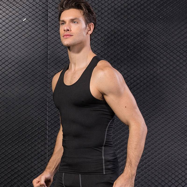 Men's Compression Athletic Tank Tops - CTHOPER