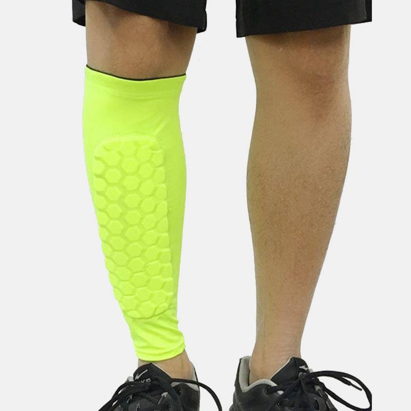 Football Compression Calf Sleeve & Pad - 1 Pair - CTHOPER
