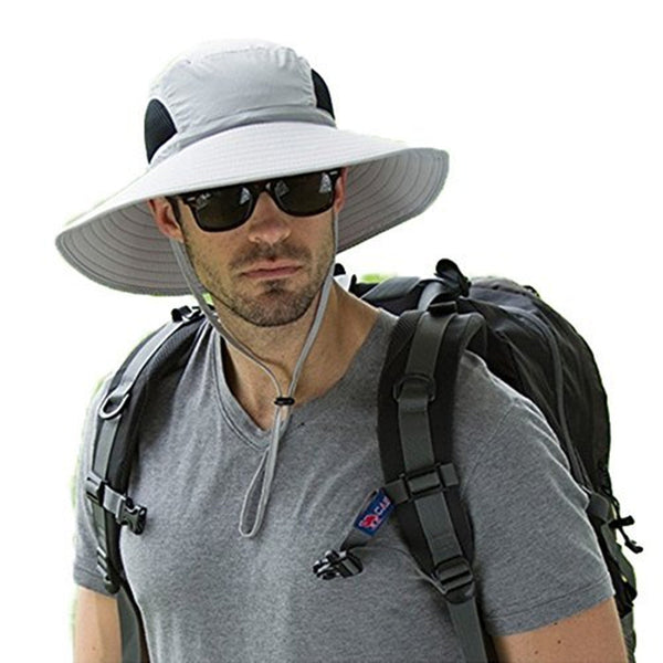 Wide Brim Breathable Mesh Sun Fishing Hat For Men & Women - CTHOPER