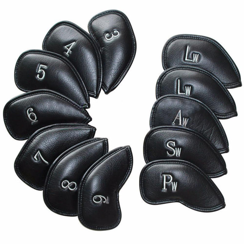 12PCS/Set Exquisite PU Golf Club Iron Head Covers Protector Sets Accessories - CTHOPER