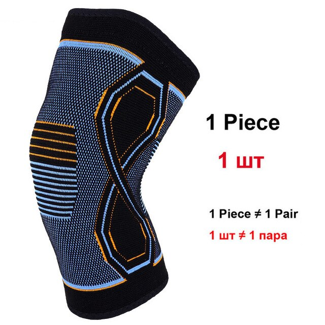 Sport Blue Orange Pattern Knee Brace - 1Pcs - CTHOPER