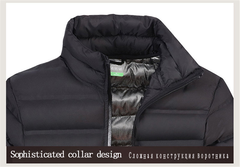 Mens Slim Fit Winter Windbreaker Bomber Parka Coat Jacket - CTHOPER