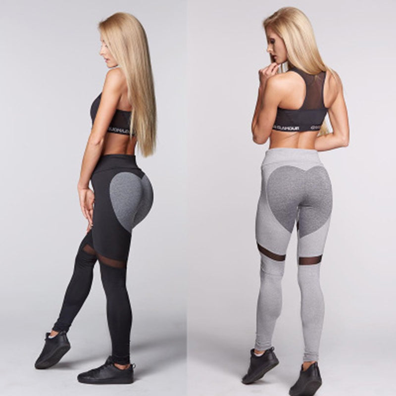 Women Sexy Push Up Heart Yoga Pants - CTHOPER