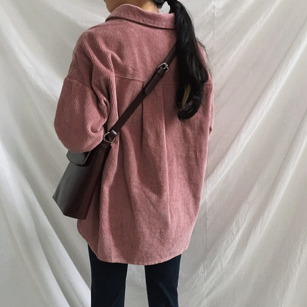 Women Winter Big Autumn Corduroy Jacket Coats