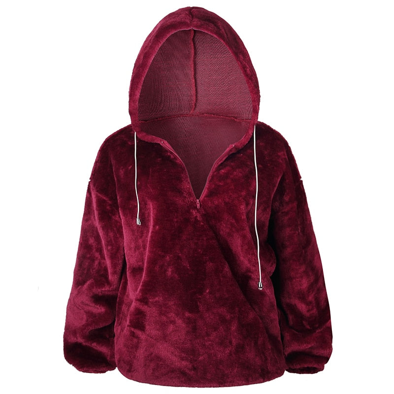 2019 Women Autumn Hooded Oversized Long Sleeve Hoodie Sweatshirt - CTHOPER
