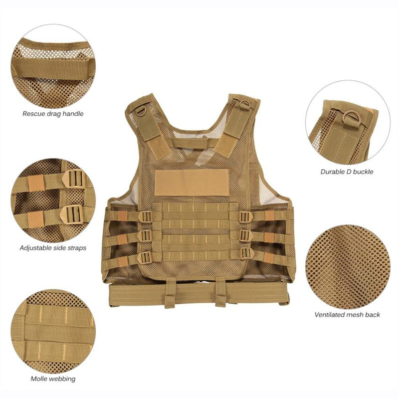 Outdoor Ultra-Light Breathable Combat Military Equipment Tactical Vest - CTHOPER