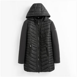 Women Winter Long Casual Solid Color Hooded Coats and Jackets