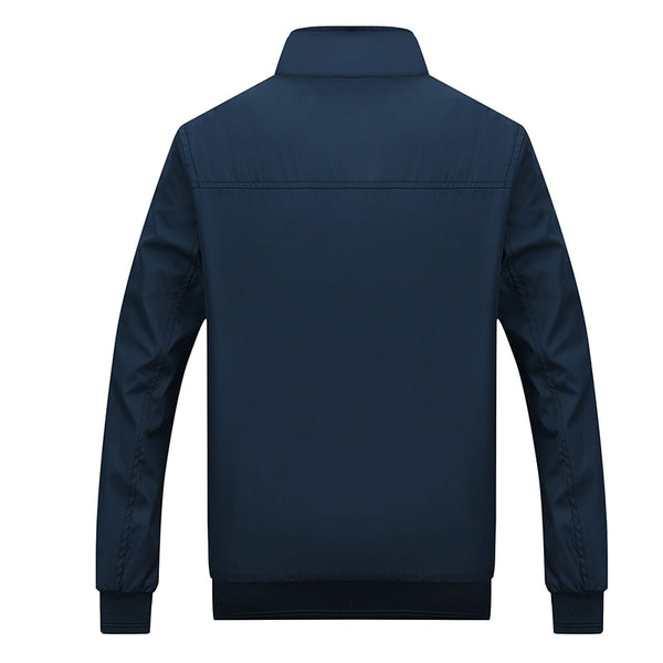 Mens Autumn Casual Stand Collar Zipper Jackets and Coats