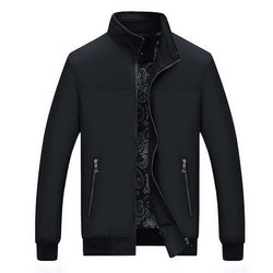 Mens Autumn Casual Stand Collar Zipper Jackets and Coats - CTHOPER