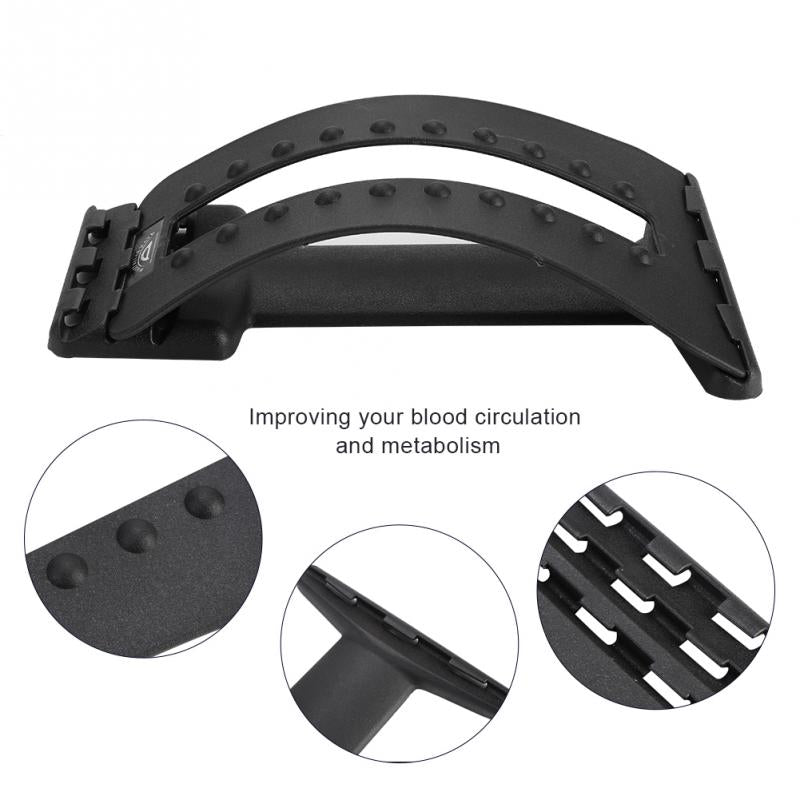 Multi-level Spine Massager Back Supporter Lumbar Stretcher - CTHOPER