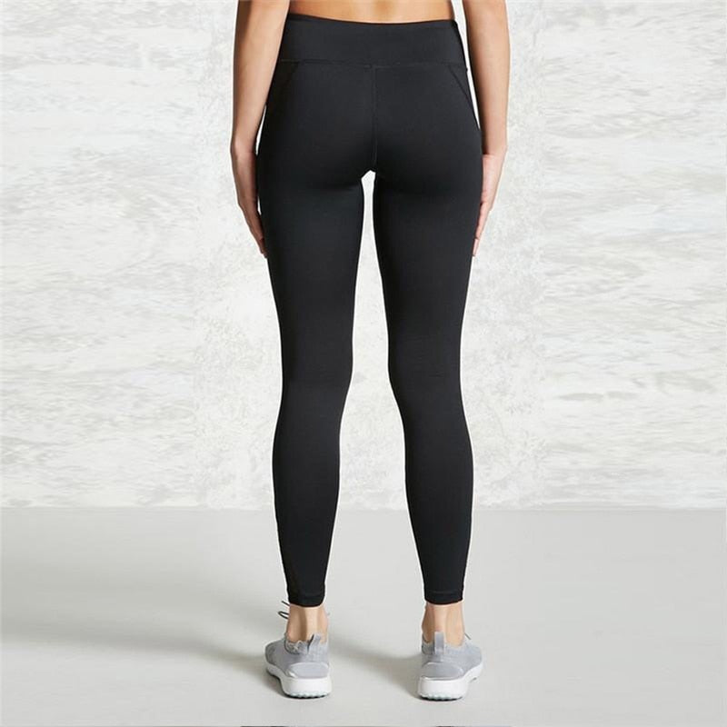 Women's Mesh Panel Side High Waist Leggings - CTHOPER