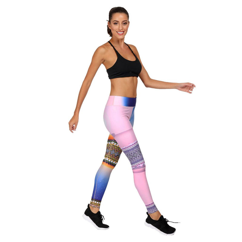 Women's Printed Exercise Seamless Yoga Pants - CTHOPER