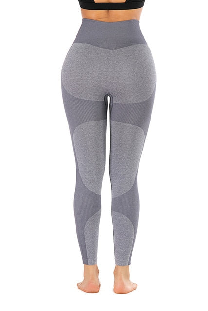 Women High Waist Slim Push Up Energy Seamless Yoga Leggings - CTHOPER