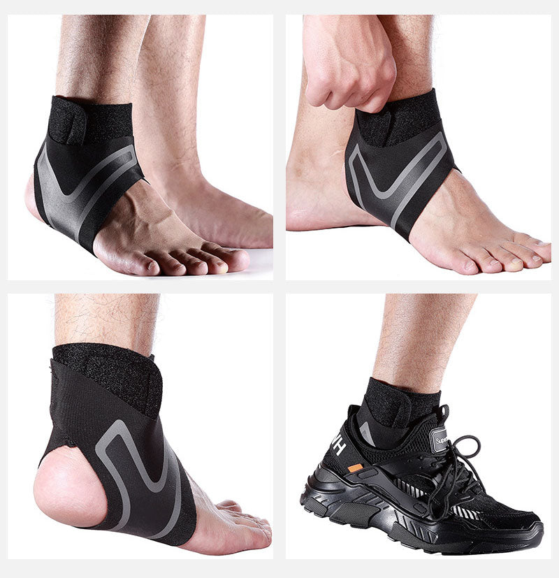 1PCS Ankle Support Brace, Adjustable Ankle Strain Protectors Strap, Against Sprains Arthritis Compression Wrap Stabilizer - CTHOPER