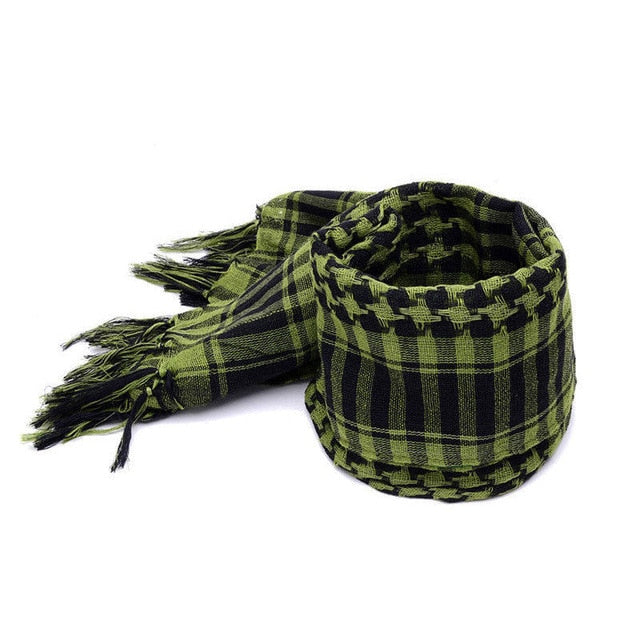 Mens Lightweight Square Outdoor Shawl Military Arab Tactical Desert Army Shemagh KeffIyeh Arafat Scarf - CTHOPER