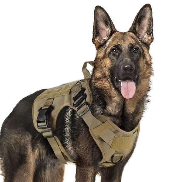 Small & Large Tactical Service Dog Harness Vest With Nylon Bridge Handle For Puppy German Shepherd Pet Dog