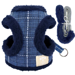 Soft Fleece Padded Chihuahua Yorkshire Small Warm Dog Harness and Leash Set - CTHOPER