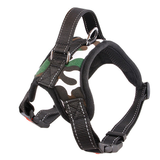 CTHOPER Reflective Tape Breathable Mesh Dog Harness Vest and Leash Harness Dog Collar Accessories - CTHOPER