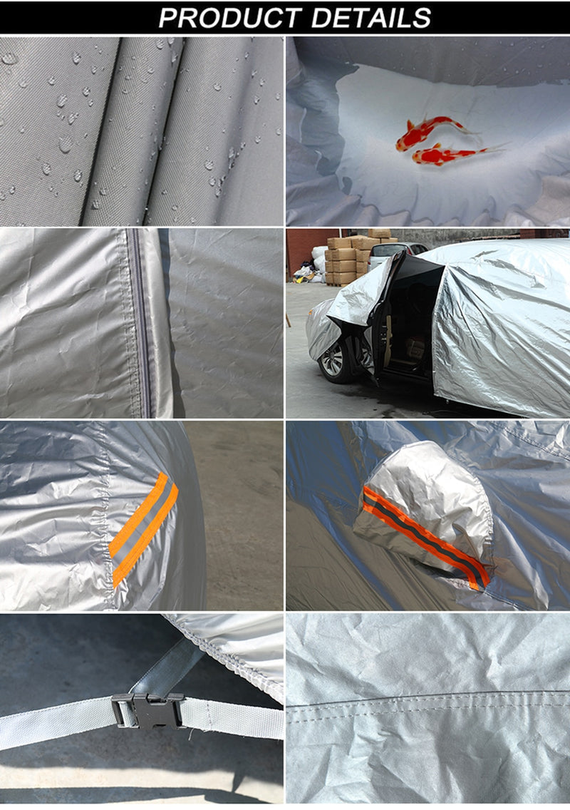 6 Layers Car Cover Waterproof All Weather Breathable UV Protection Snowproof Dustproof Universal Fit Full Car Covers for car reflector dust rain snow protective suv sedan hatchback
