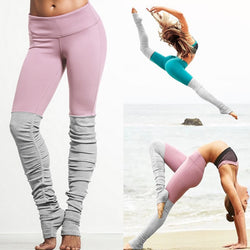 New Women Push Up Gym Fitness Patchwork High Stretch Elastic Yoga Pants - CTHOPER