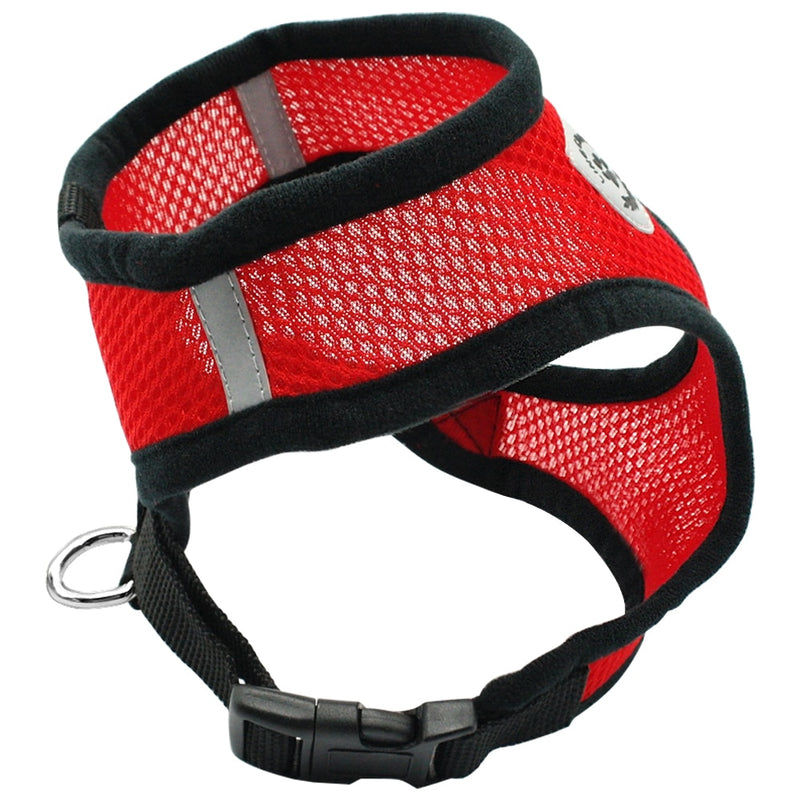 Air Nylon Mesh Puppy Dog Pet Cat Harness and Leash Set - CTHOPER