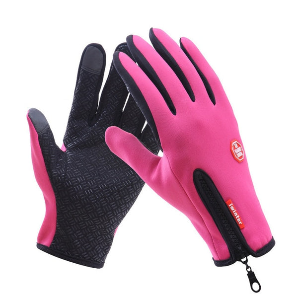 Waterproof Motorcycle Riding Winter Touch Screen Snow Windstopper Gloves - CTHOPER