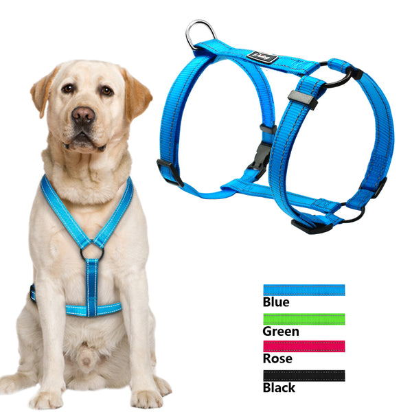 Reflective Nylon Night Safety Pet Dog Harnesses Adjustable Vest