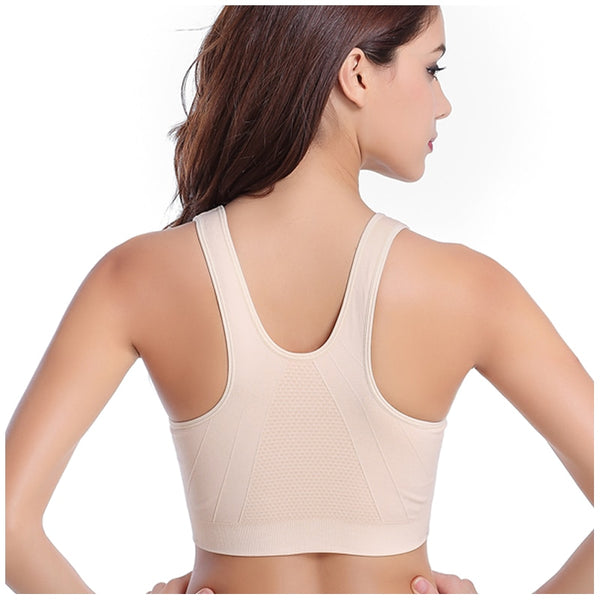 Women's Zipper Push Up Sports Bras - CTHOPER