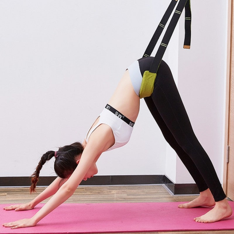 One Word Horse Flexibility Stretching Leg Stretcher Strap for Ballet Cheer Dance Gymnastics Trainer Yoga Stretch Belt - CTHOPER